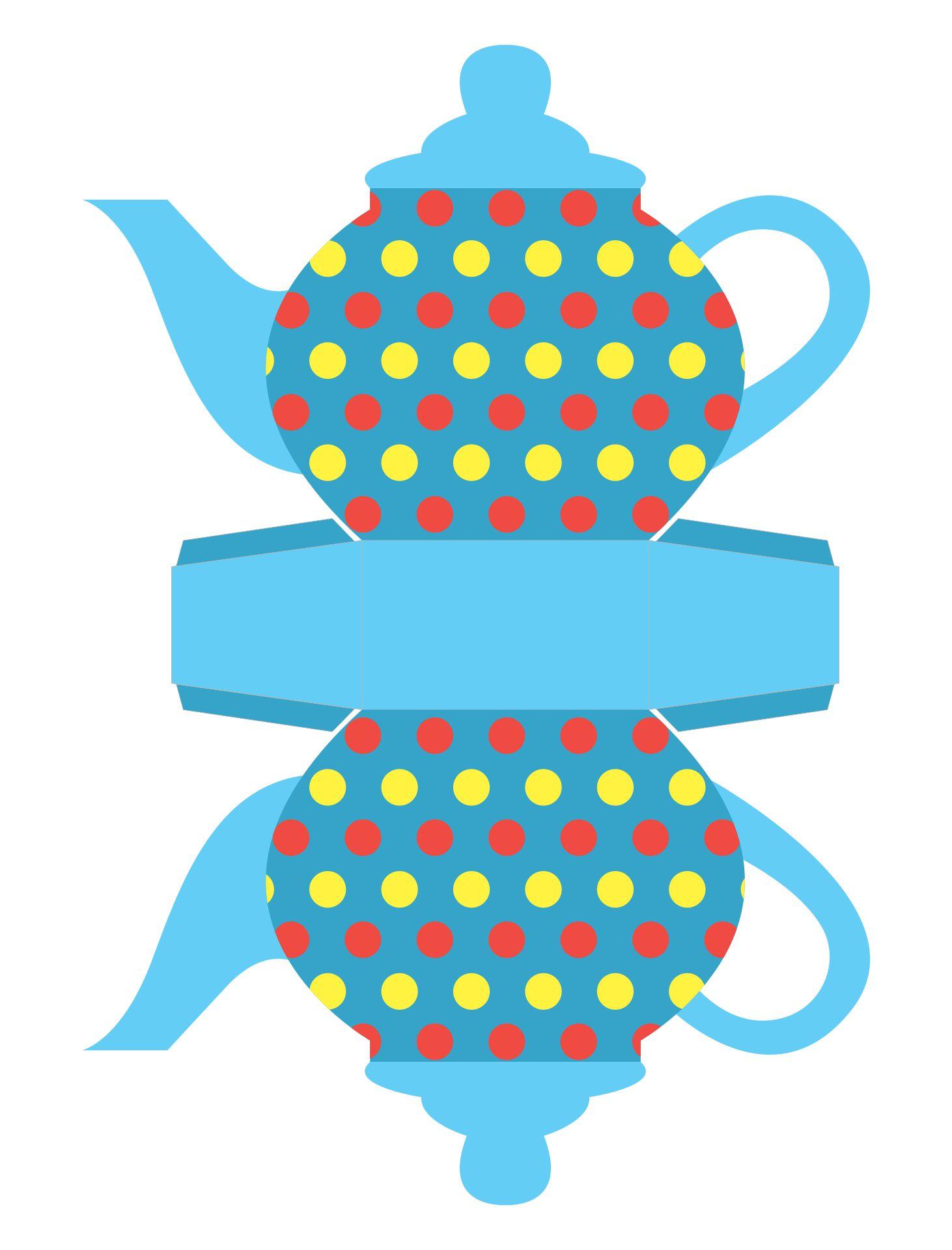 Printable Teapot Gift Box Templates