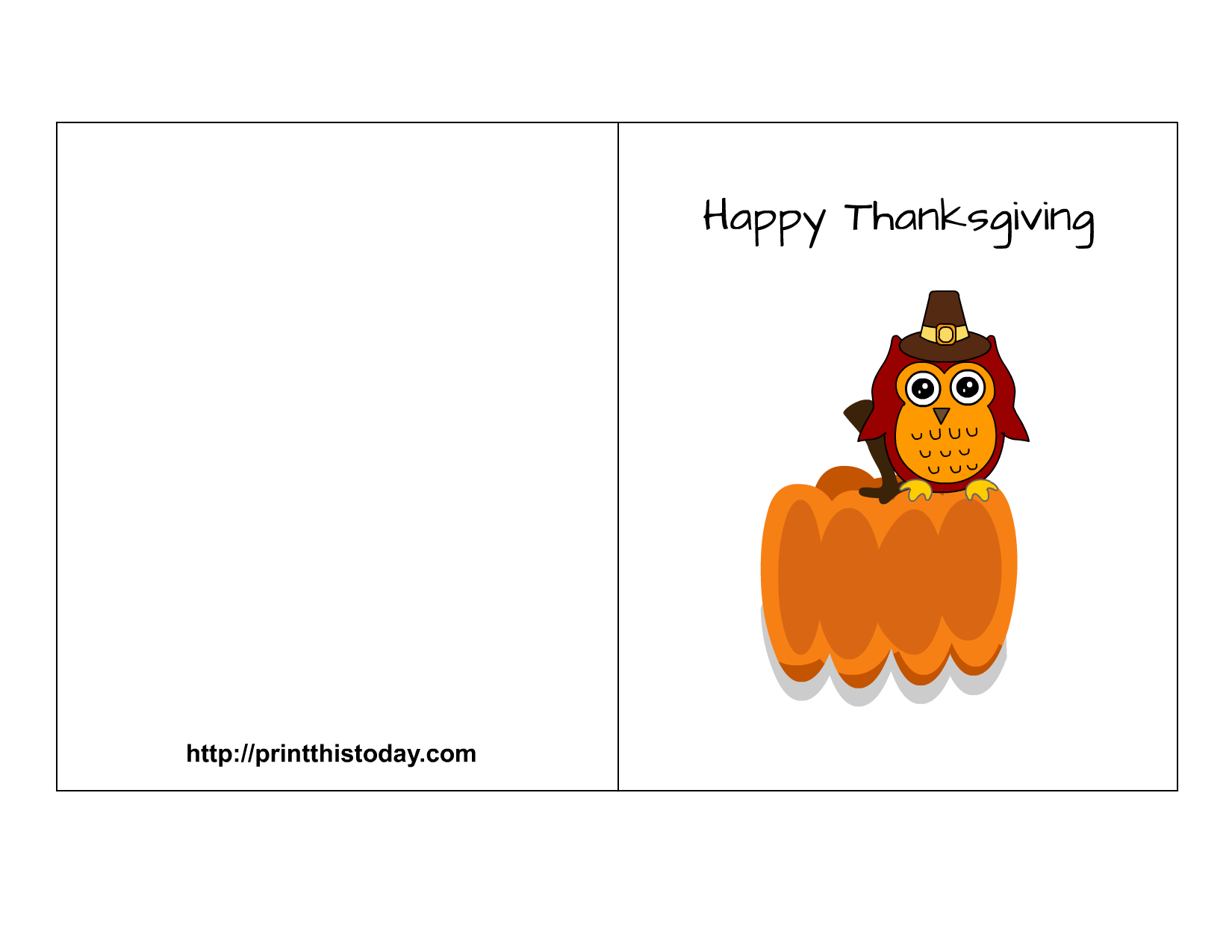 8 Images of Happy Thanksgiving Printable Cards