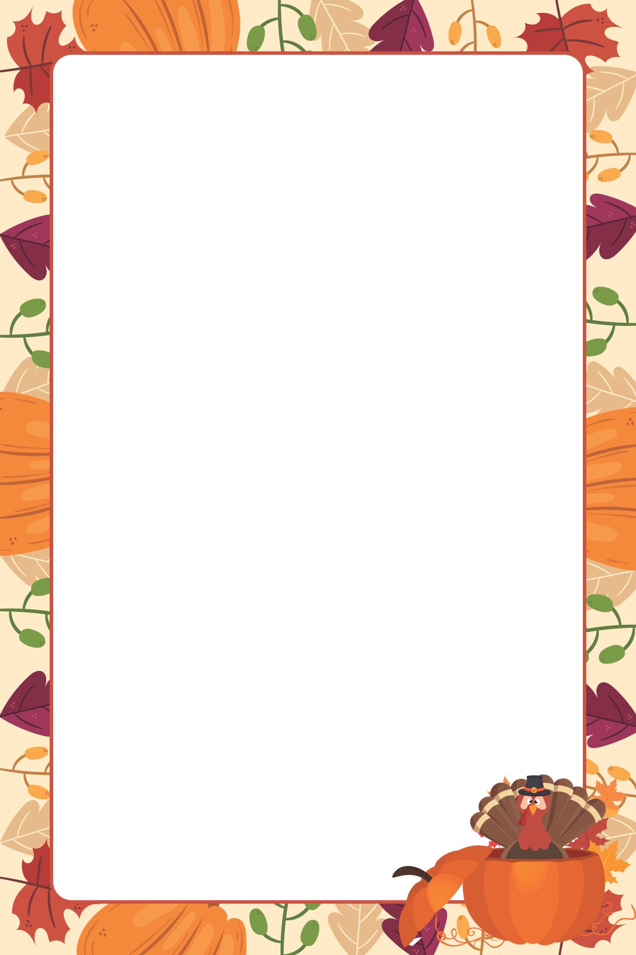 Thanksgiving Stationery Printable