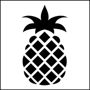 6 Images of Pineapple Easy Stencil Printable