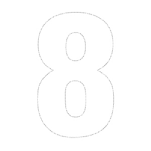 7 Images of Printable Number 8 Outline