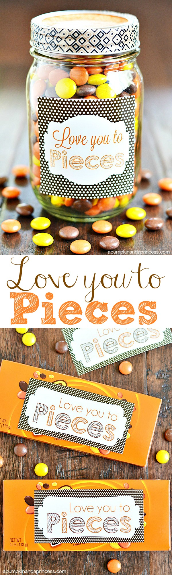 6 Images of I Love You To Pieces Printable Tag