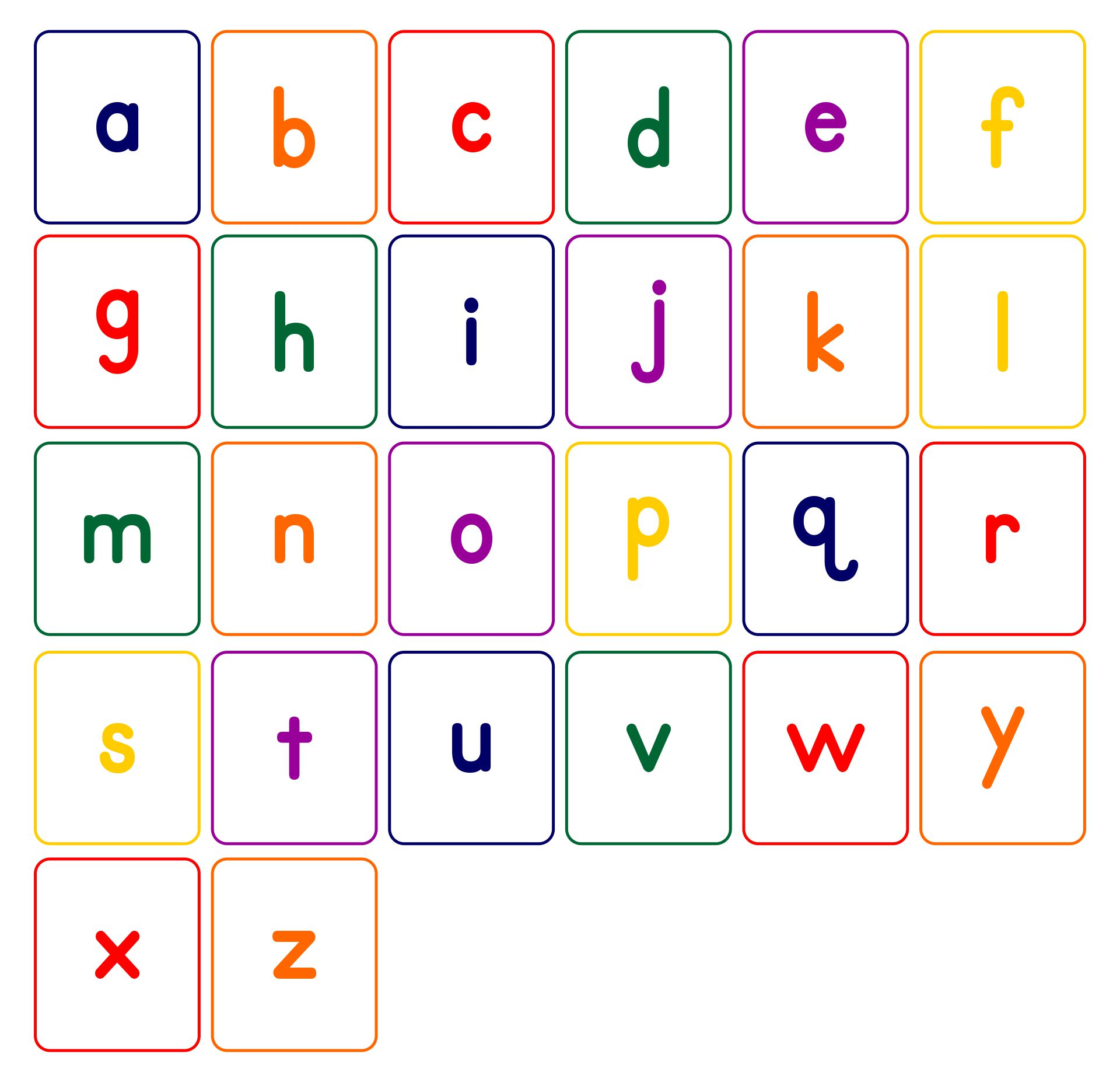 Lower Case Alphabet Cards