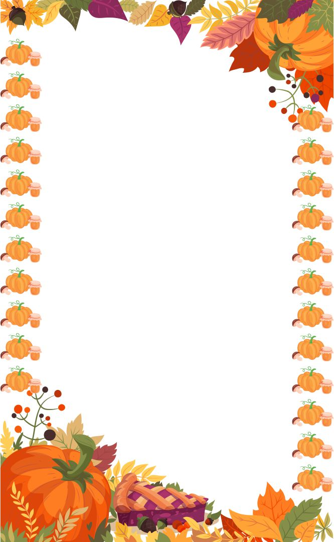 6 Best Images Of Free Printable Thanksgiving Borders