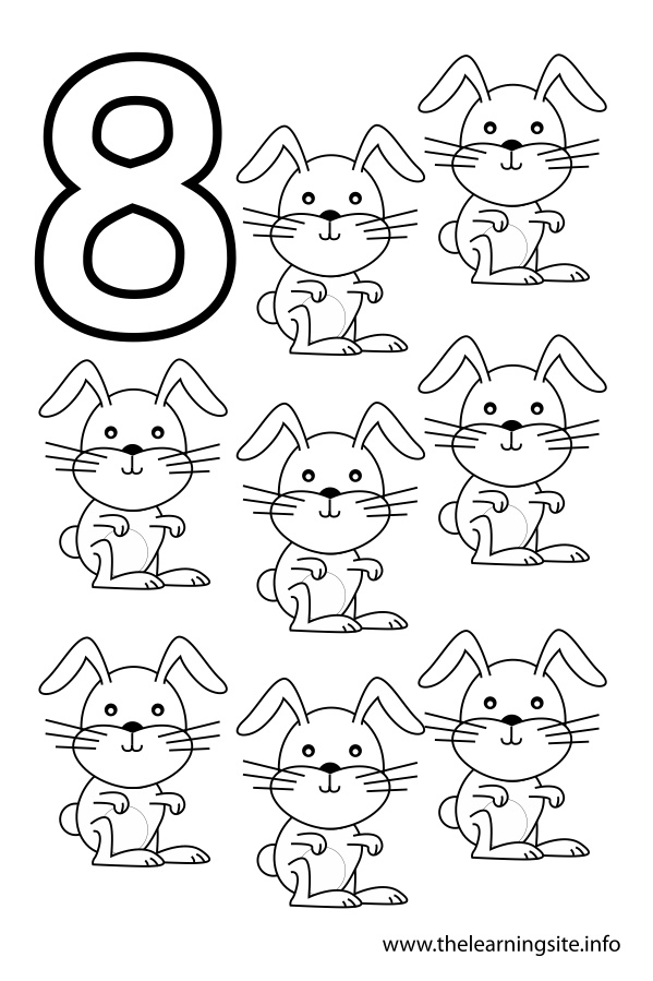 7 best images of printable number 8 outline large for Number 8 coloring page