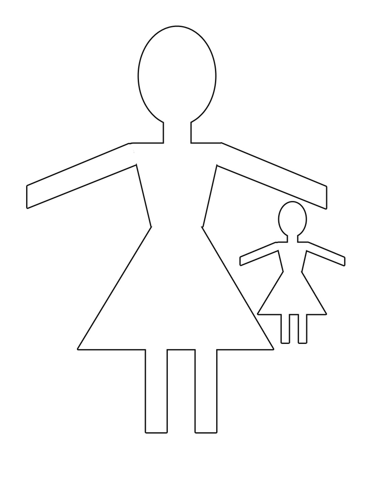 Fashion paper dolls template