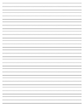 primary writing paper printable