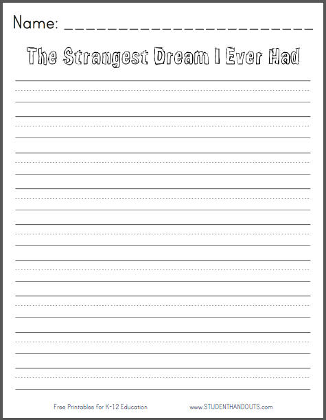 6 best images of free printable writing prompts free for Writing templates for 3rd grade