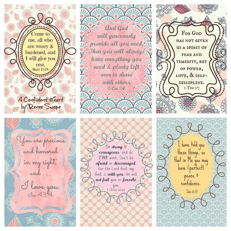 8 Images of 4X6 Free Printable Scripture Verses