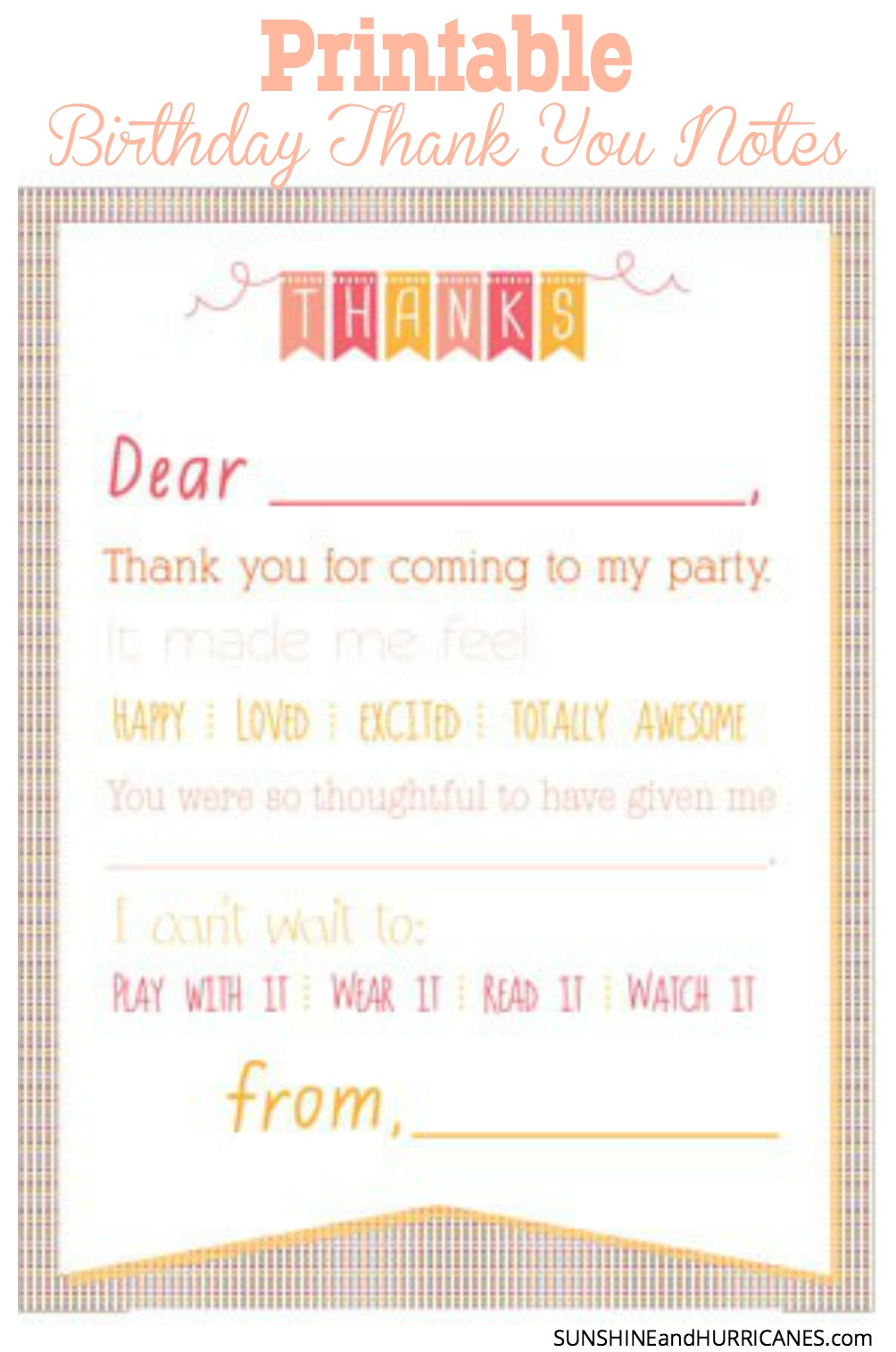 6 Images of Cute Thank You Notes Printable