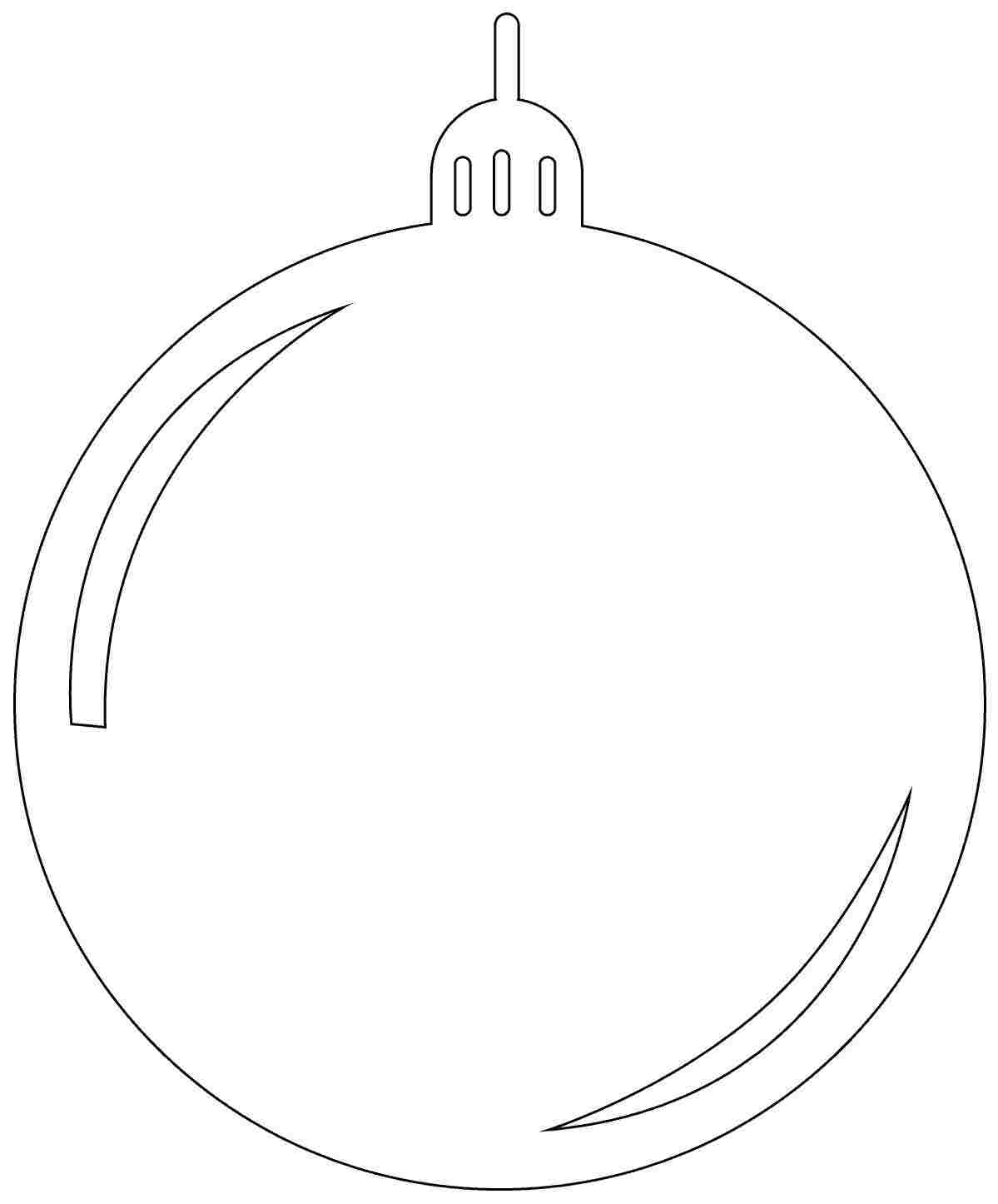 Printable Coloring Pages Christmas Ornaments