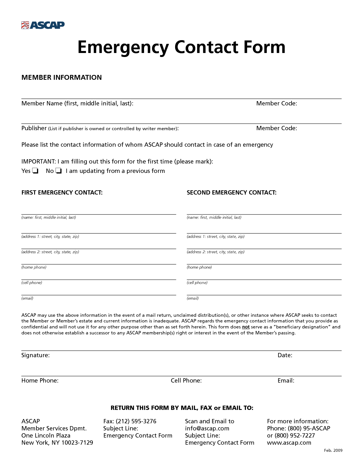 8 best images of free printable emergency contact form for Emergency contact form template for child