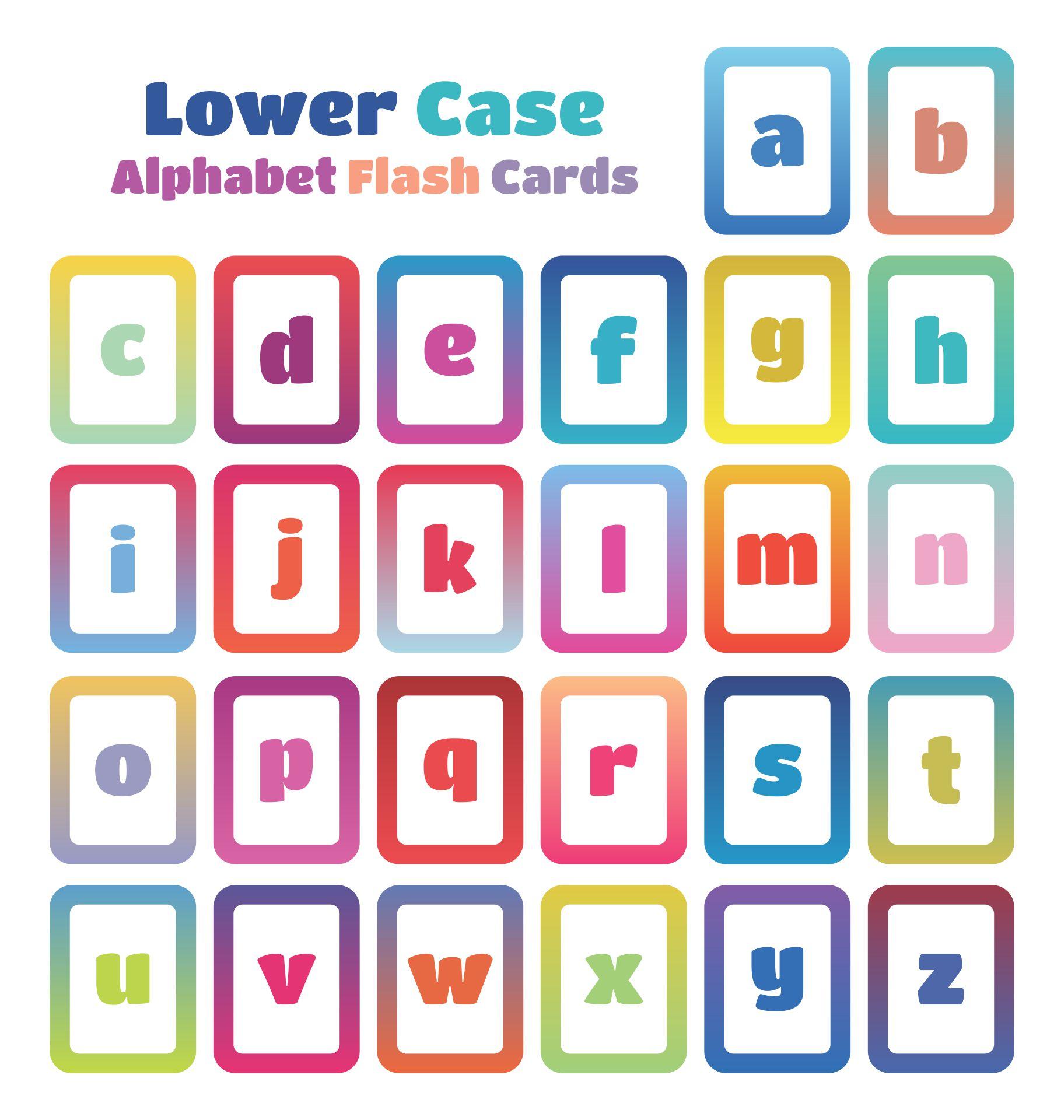 Printable Lower Case Alphabet Letters