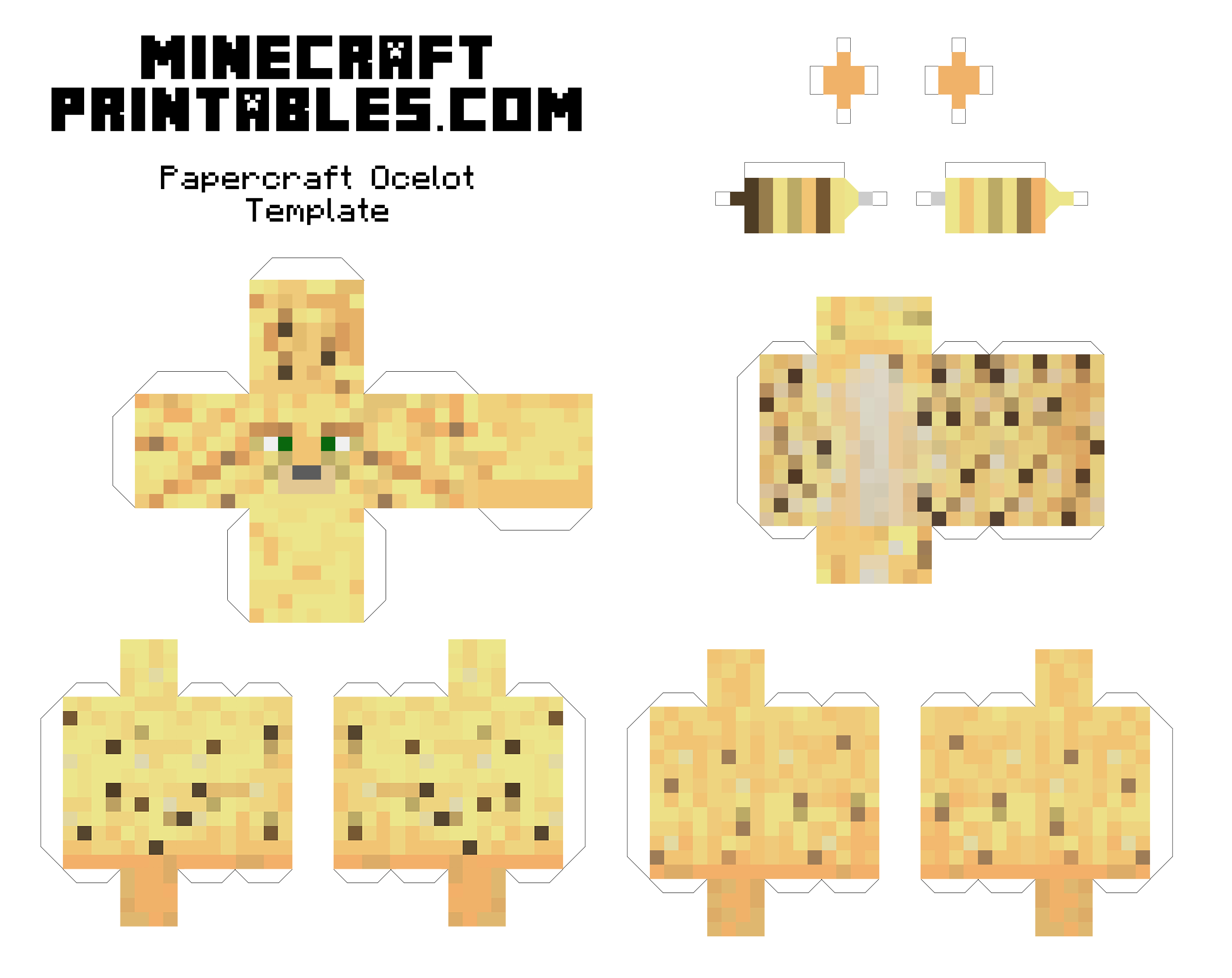 7 Images of Minecraft Papercraft Printables