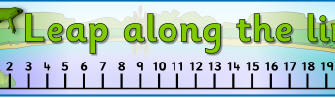 5 Images of 1-20 Printable Number Line Banner