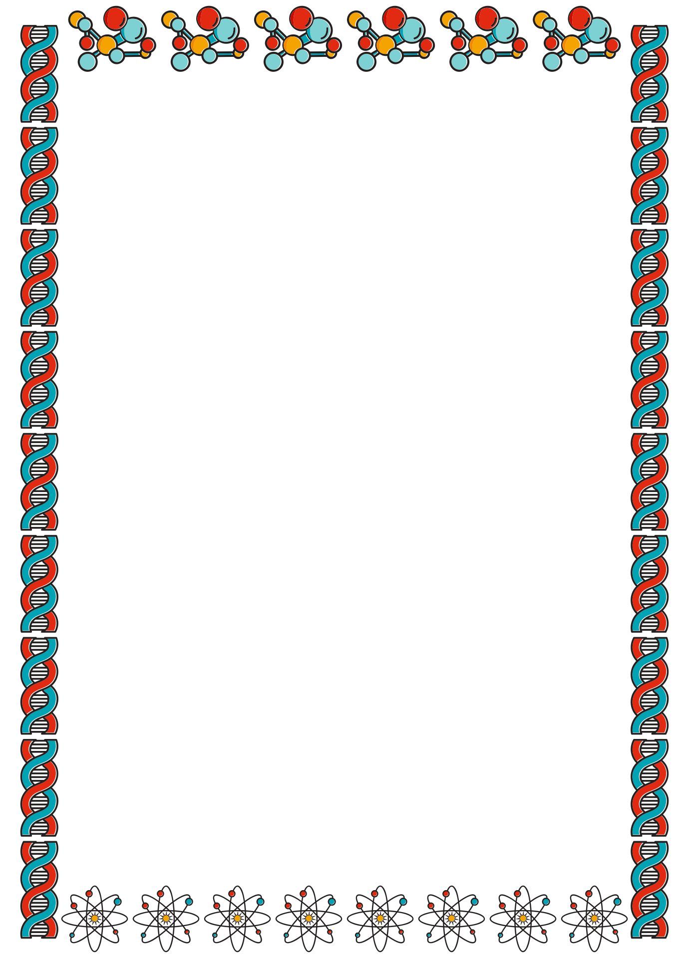 Printable Science Project Borders
