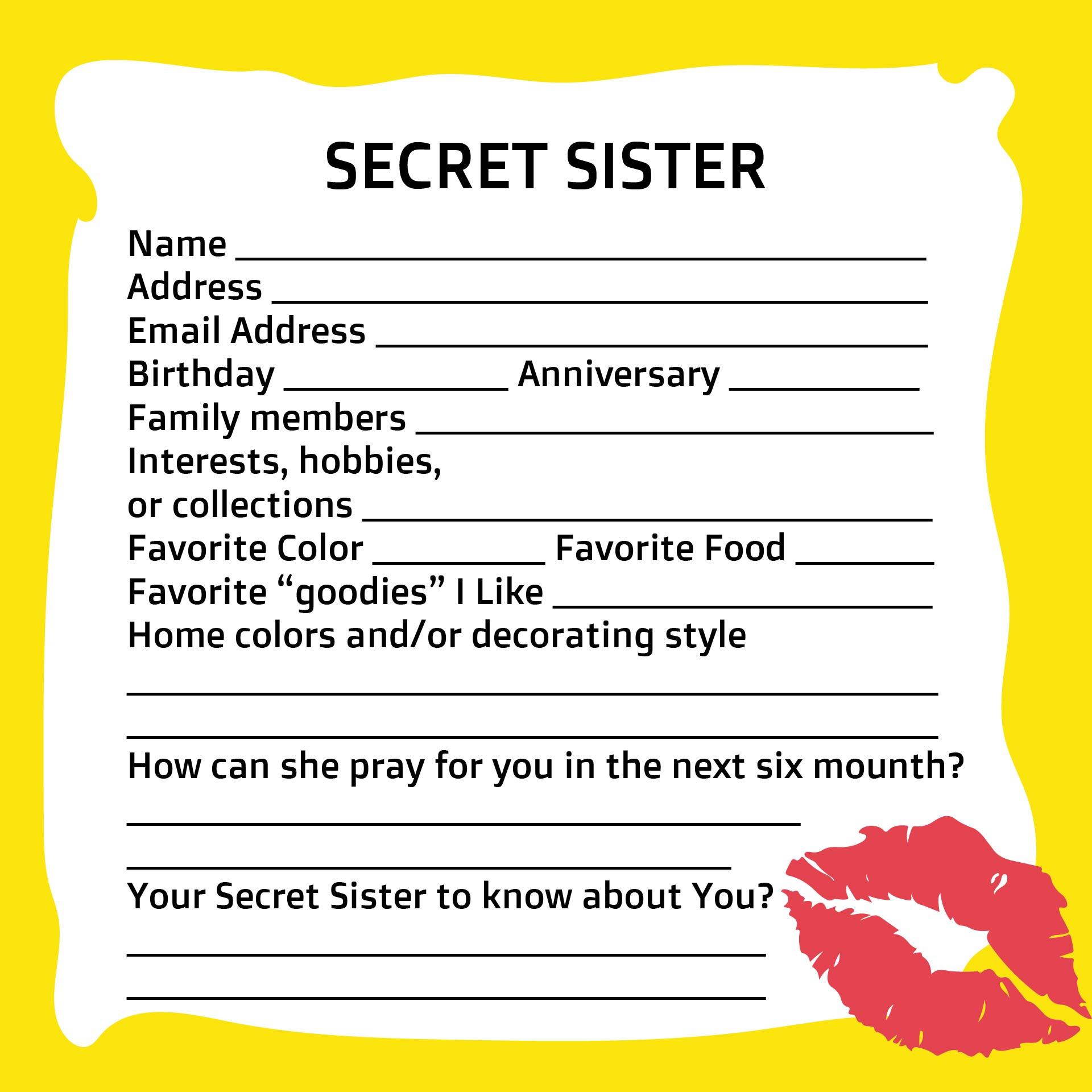 Best Images Of Secret Sister Forms Printable Printable Secret ...