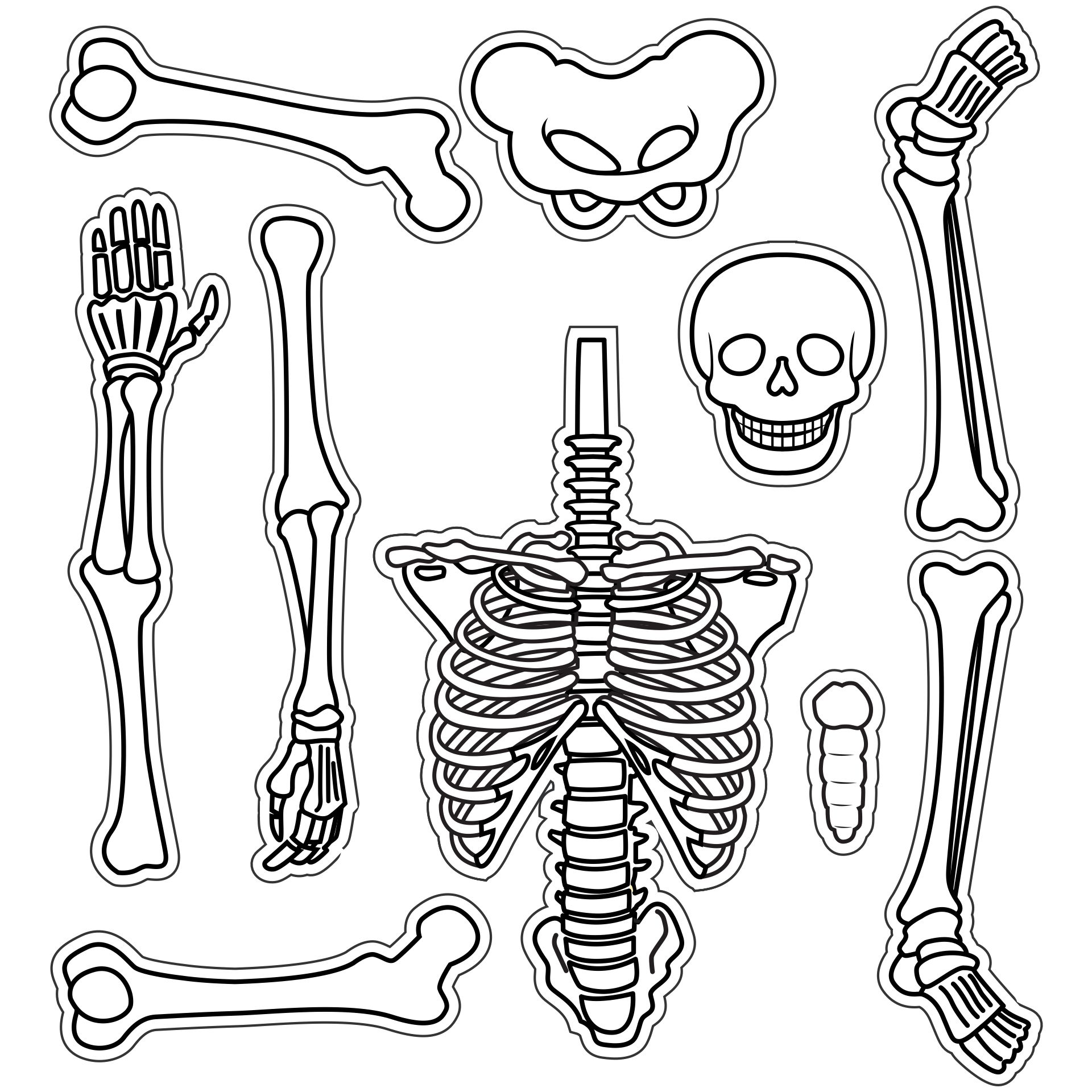 6 Images of Large Printable Skeleton Template