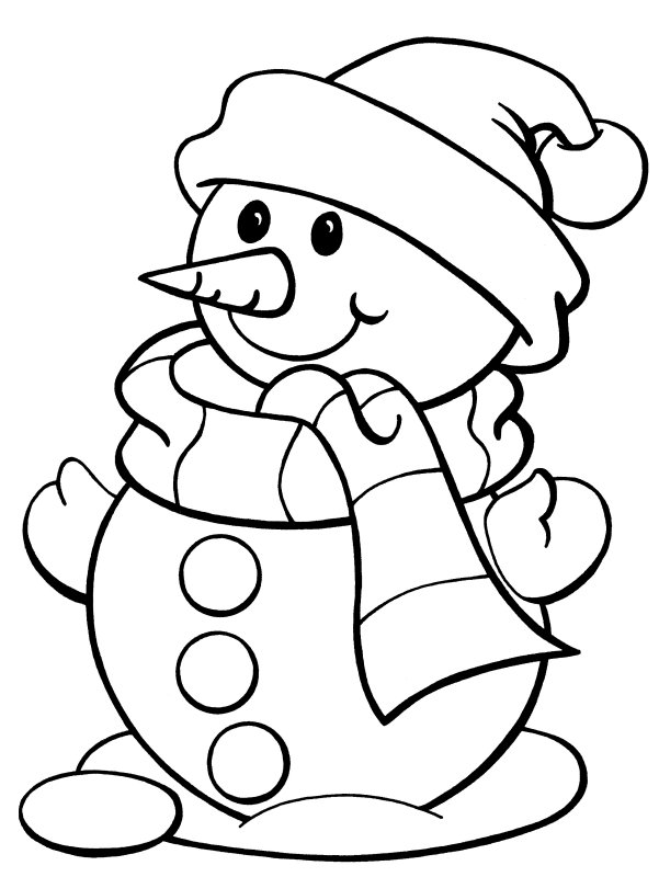 5 Images of Free Printable Christmas Snowman Coloring Pages