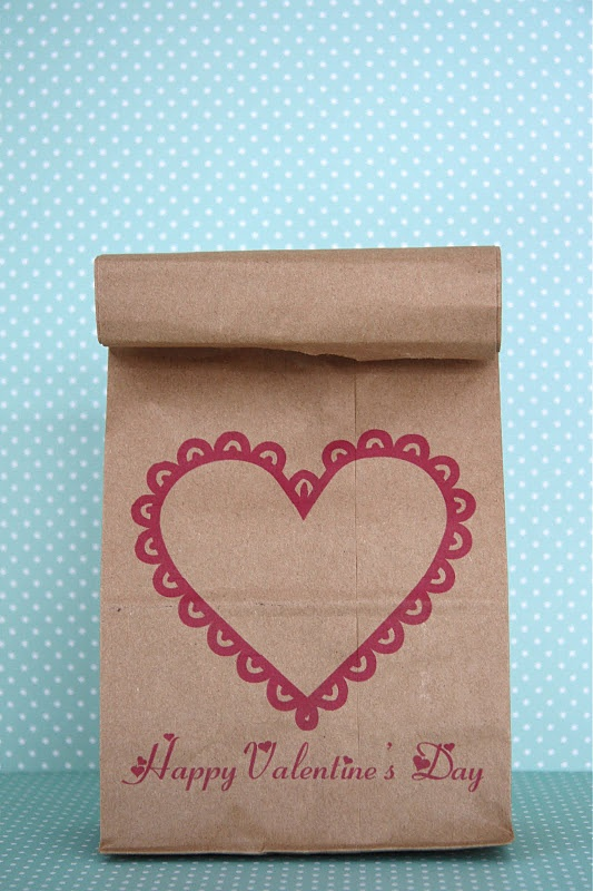 8 Images of Printable Valentine Bags