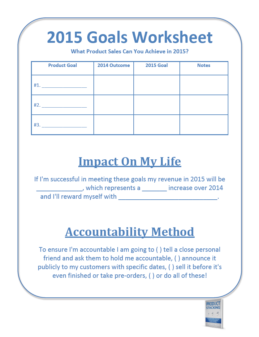 7 Images of 2015 Printable Goal Setting Worksheet