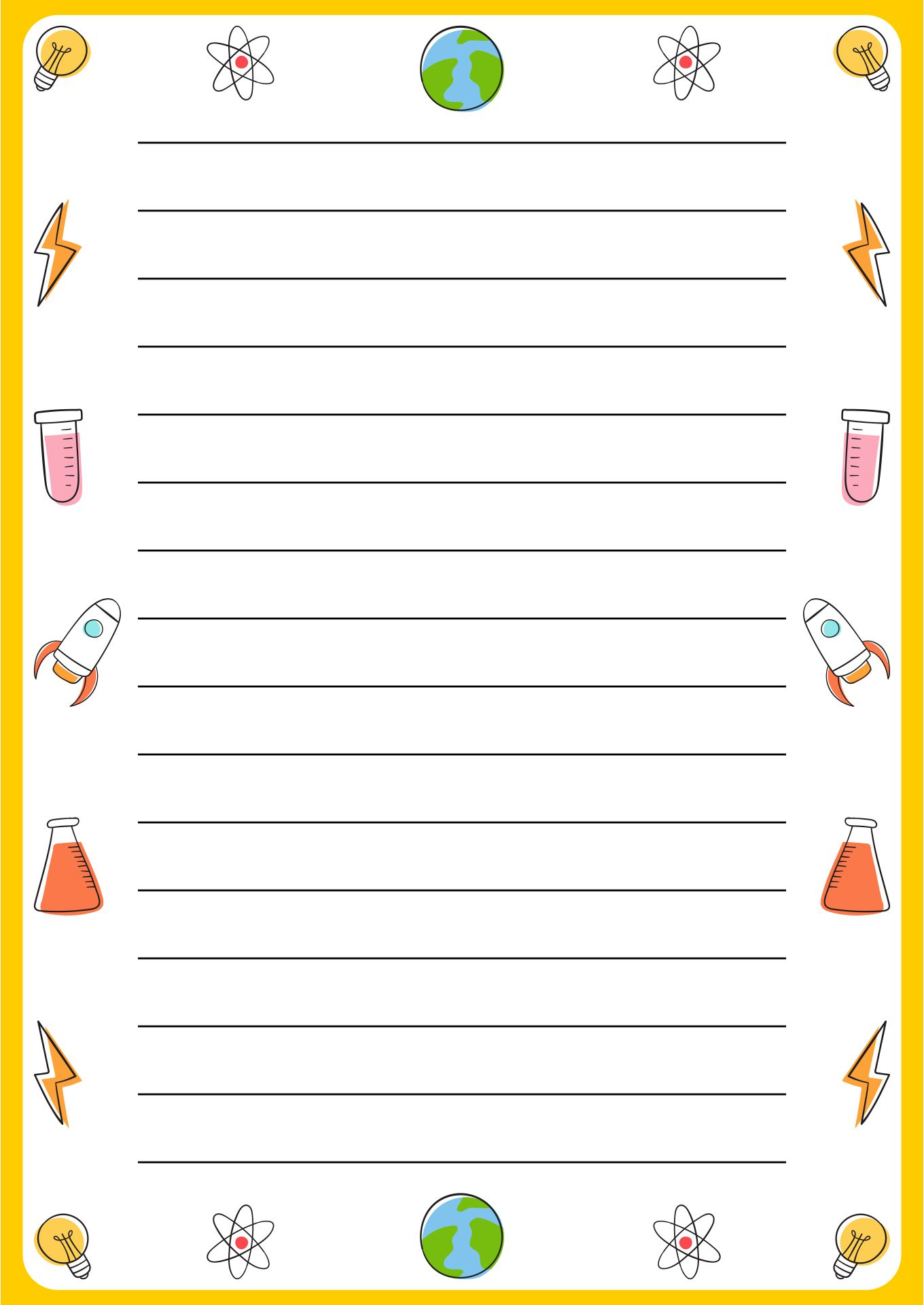Best writing paper borders template