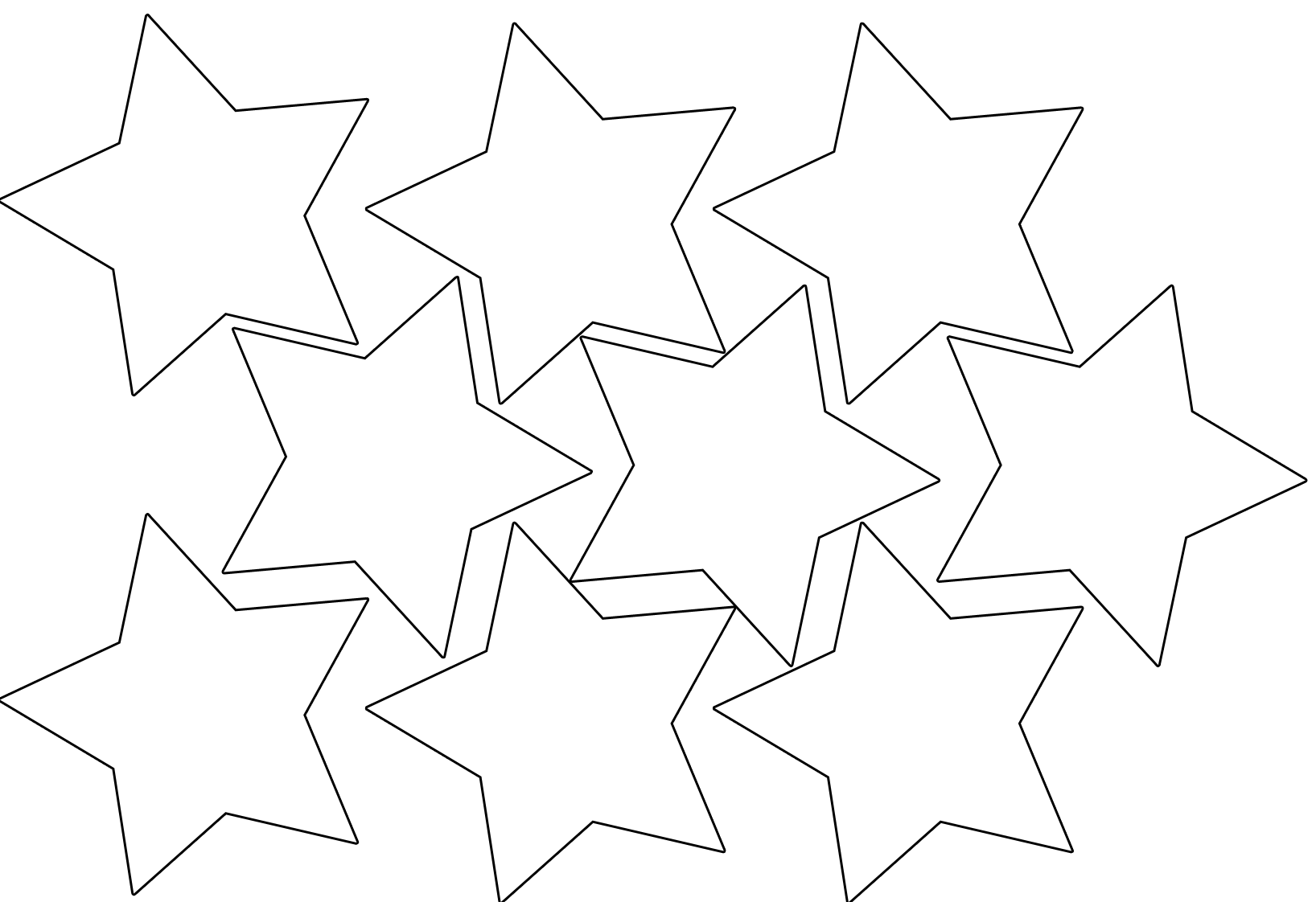 5 best images of small cut out star template printable for Small star template printable free