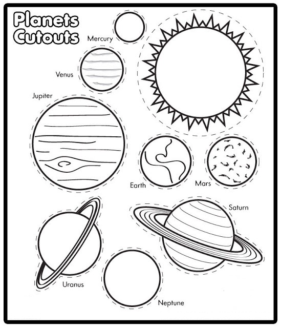 5 Images of Printable Solar System Mobile