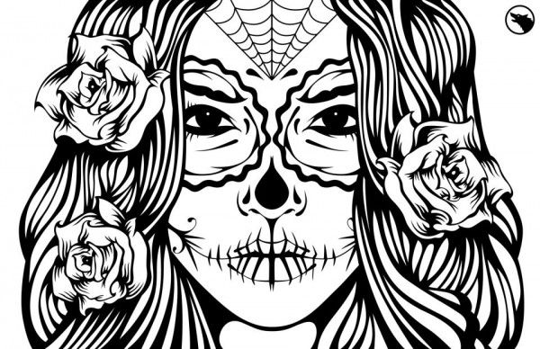 3 Images of Printable Adult Coloring Pages Skulls
