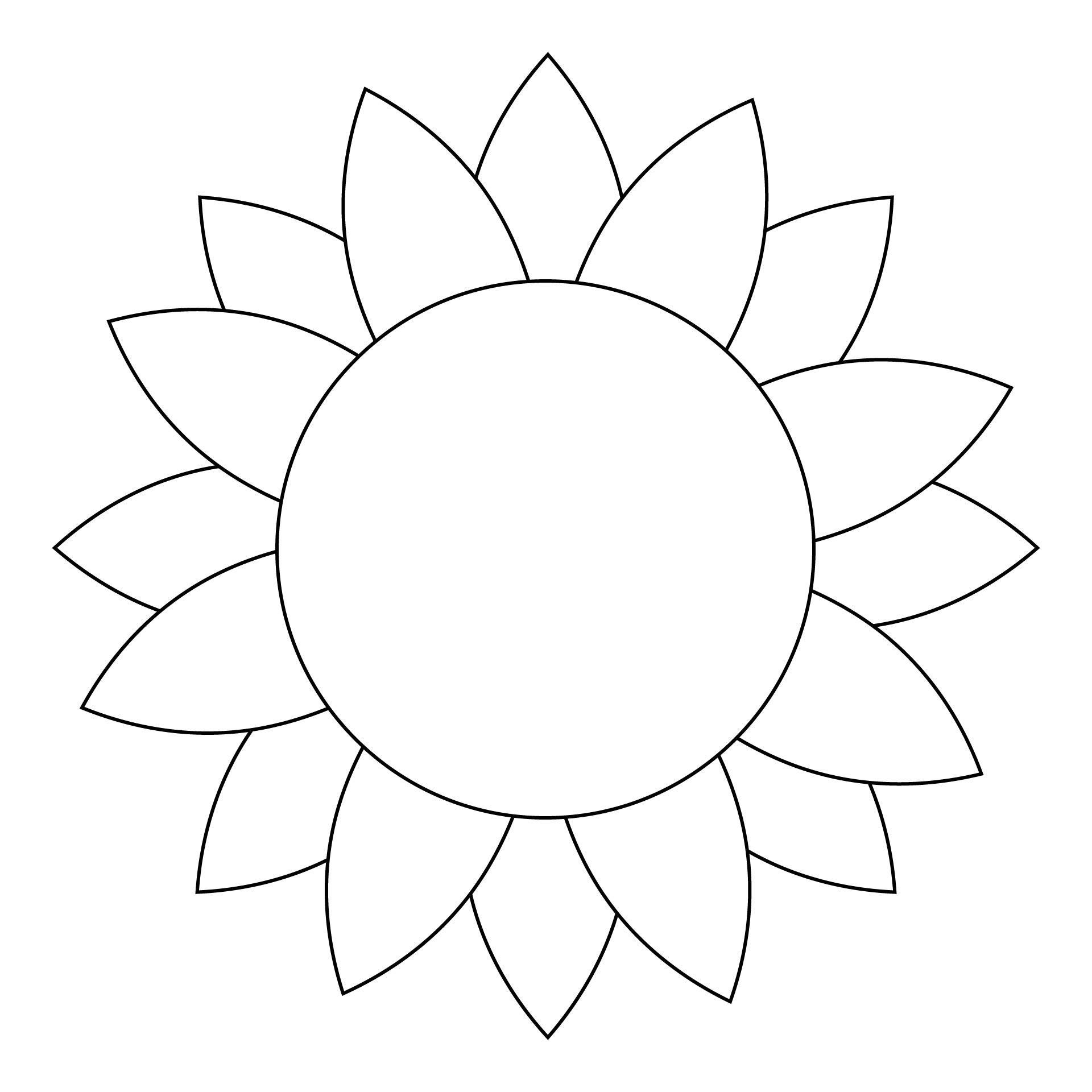 Sunflower Flower Templates Printable Free