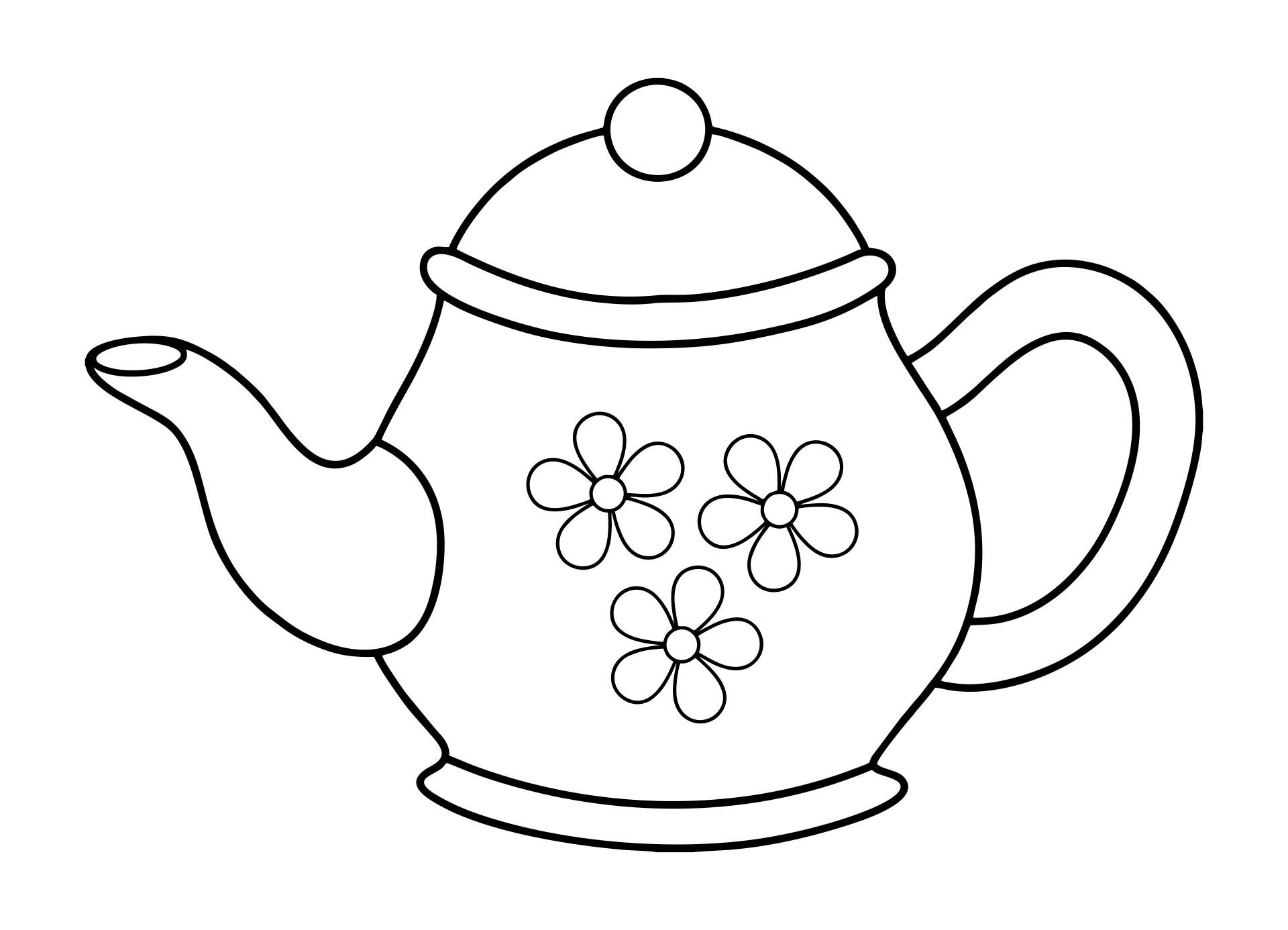 6 Images of Printable Tea Pot