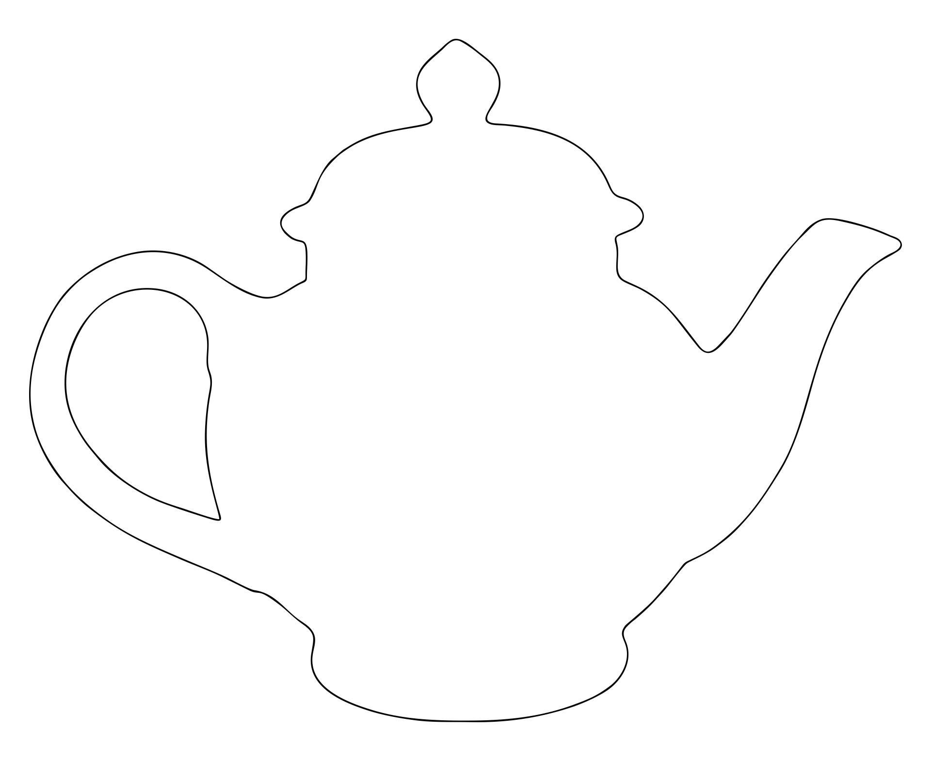 Teapot Cut Out Template