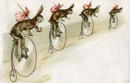 4 Images of Rabbit Vintage Printable Art