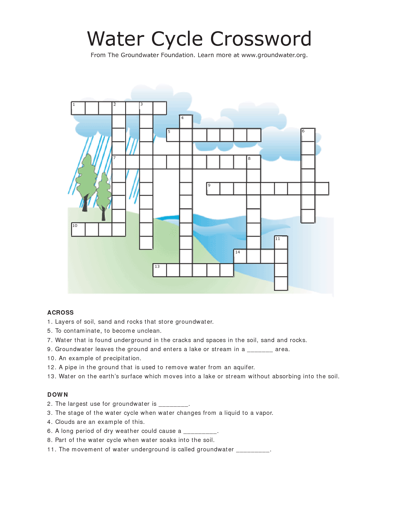 5 Images of Water Cycle Printable Puzzles