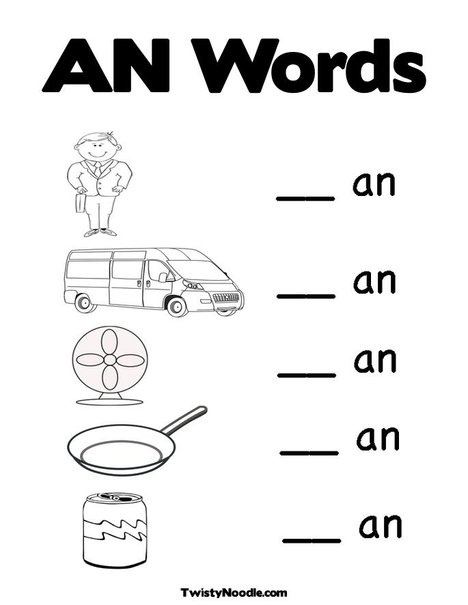 Worksheets An Word Family Worksheets 5 best images of ed word family worksheet printables families worksheet