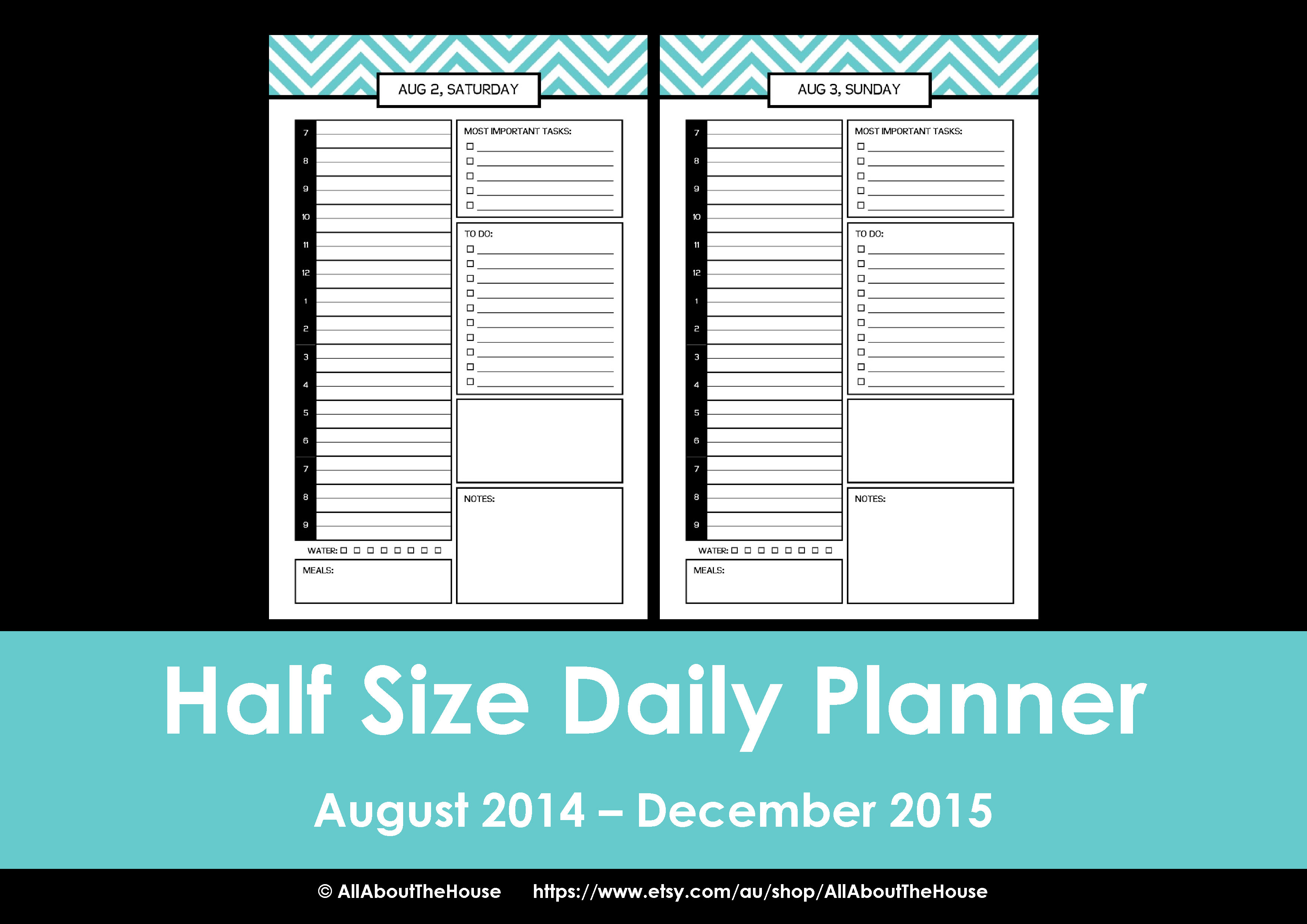 10 Images of Printable 2015 Planner Half-Size