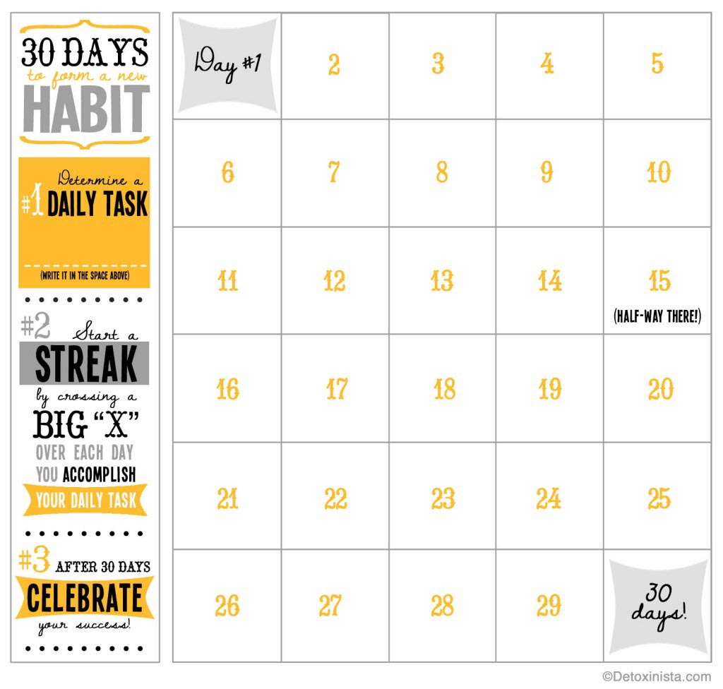 8 Images of Printable Workout 30-Day Blank Calendar