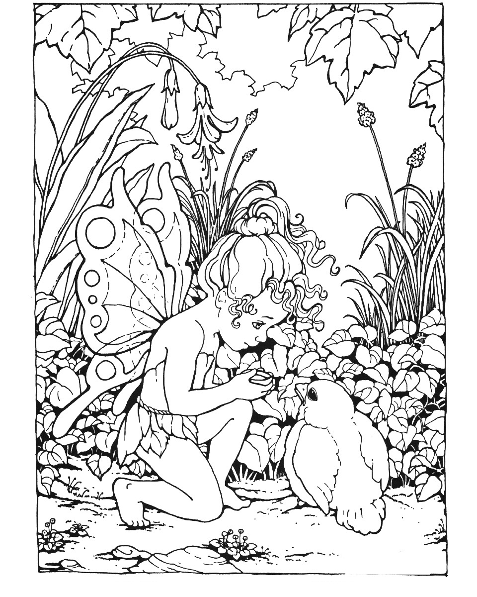 5 Images of Free Printable Adult Coloring Pages Fairies
