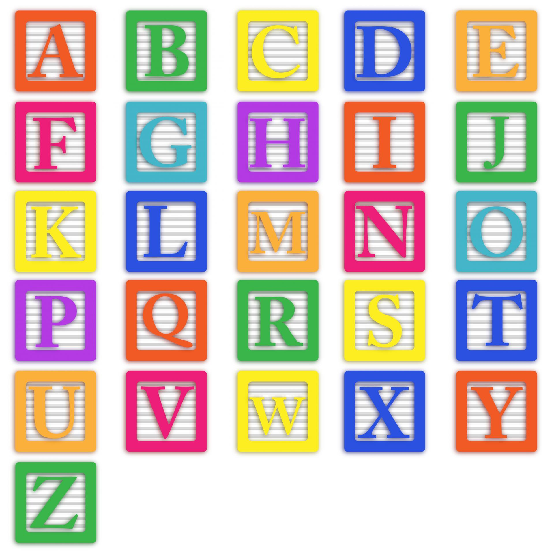 5 Images of Baby Block Letters Printable