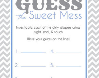 6 best images of dirty diaper game printable baby shower dirty diaper game template baby. Black Bedroom Furniture Sets. Home Design Ideas