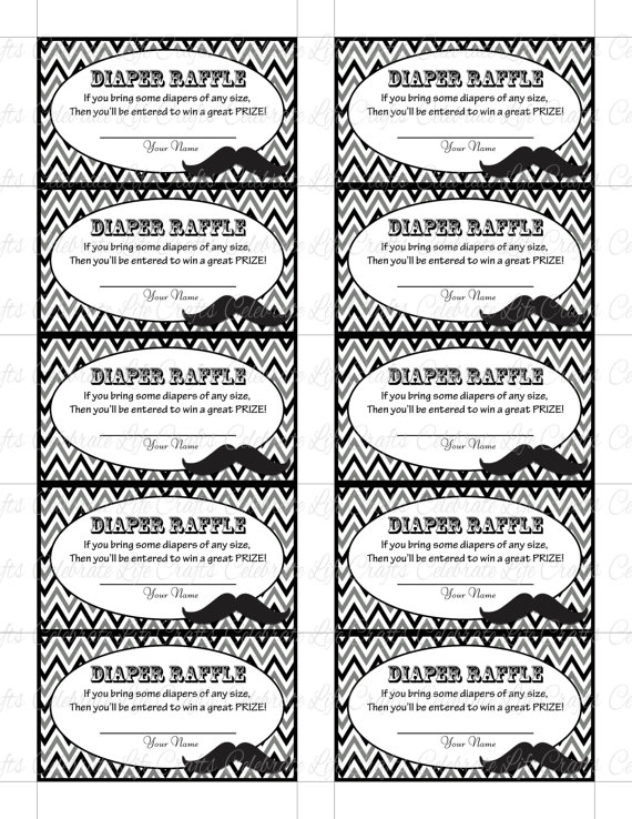 diaper raffle ticket templates and free printable diaper raffle ticket