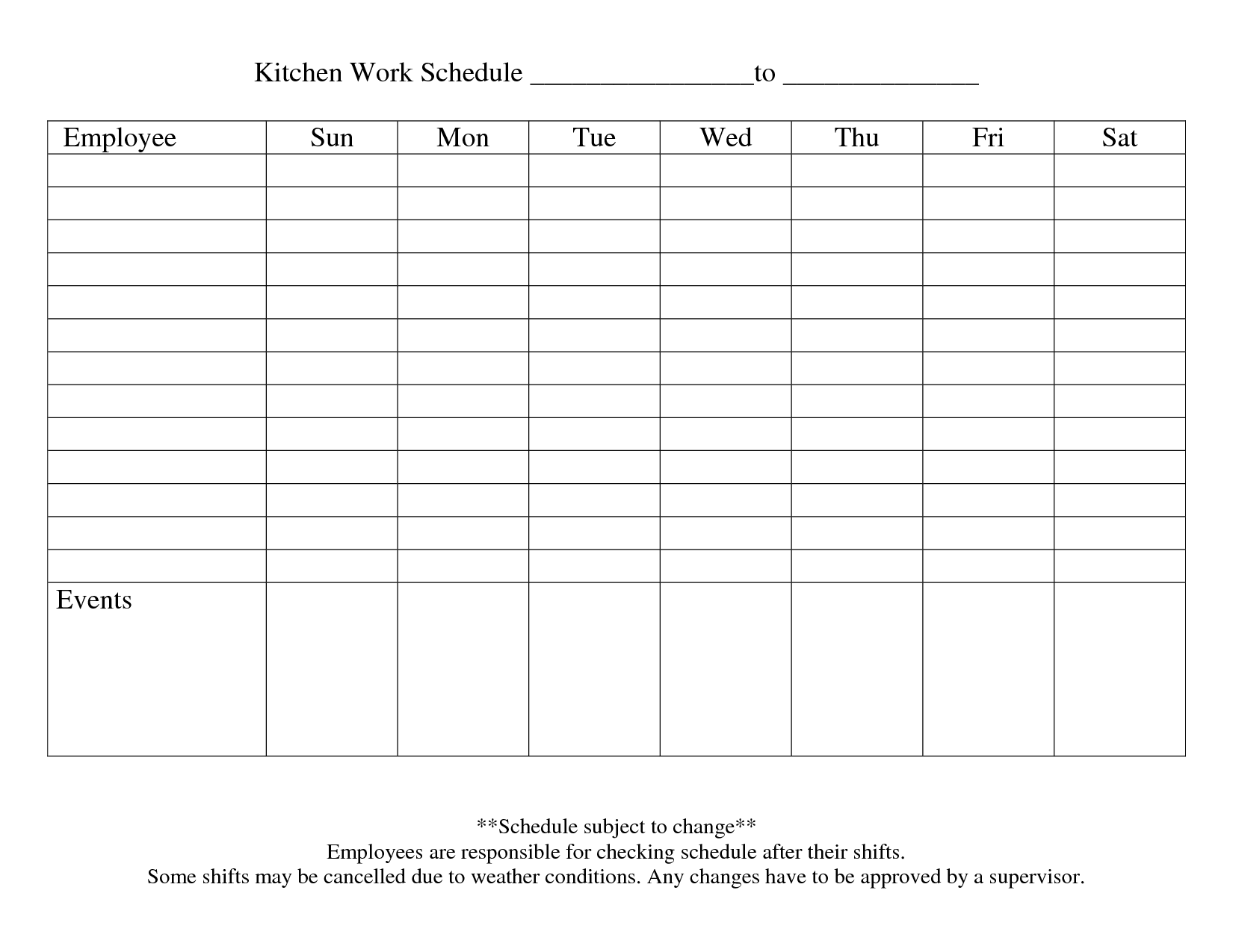 9 best images of printable blank weekly employee schedule blank weekly employee schedule. Black Bedroom Furniture Sets. Home Design Ideas