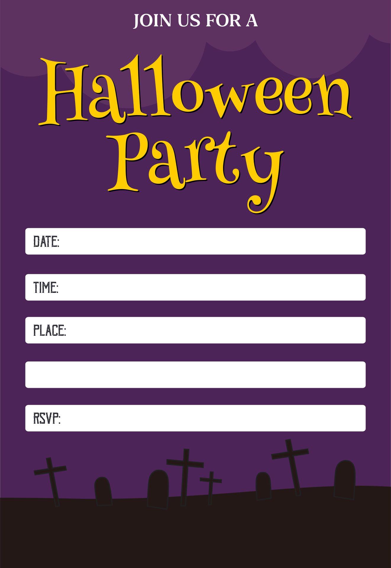 Blank Halloween Invitation Templates