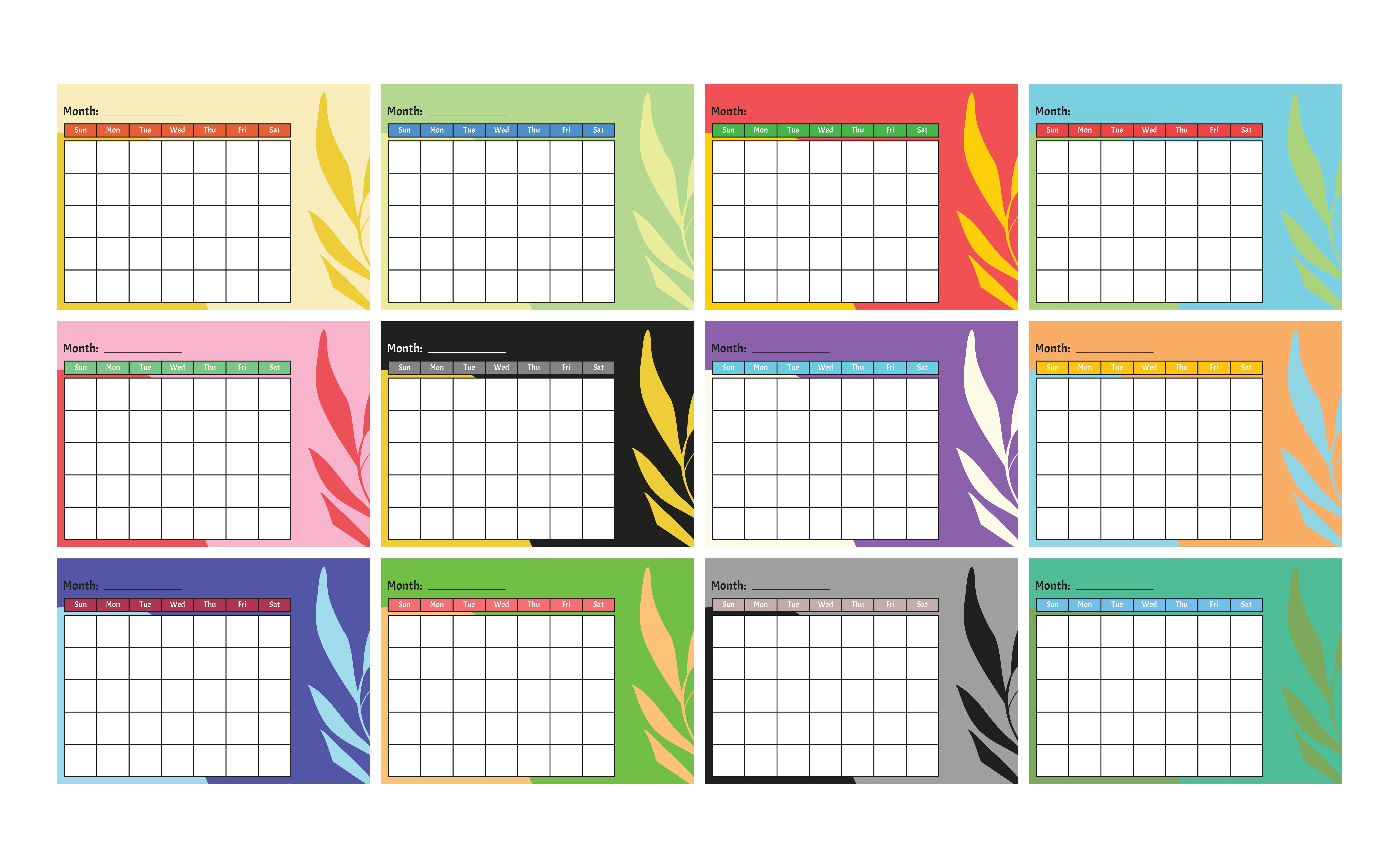 Blank Monthly Calendar Kindergarten : Best images of kindergarten monthly calendar printable