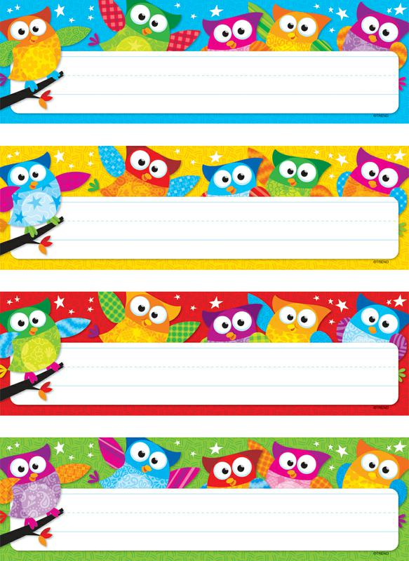 6 Images of Owl Desk Name Tags Printable
