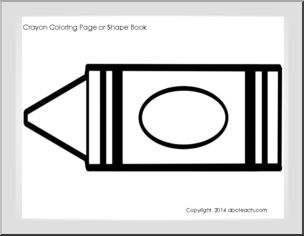 7 Best Images Of Printable Crayon Color Coloring Pages