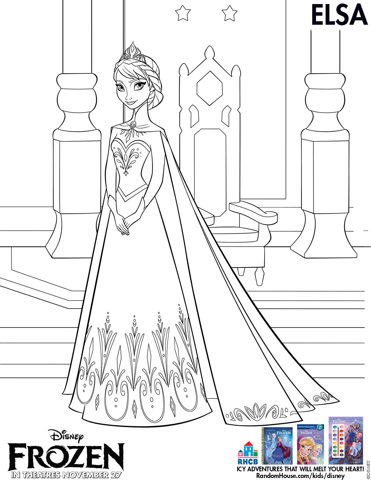 9 Images of Disney's Frozen Free Printables