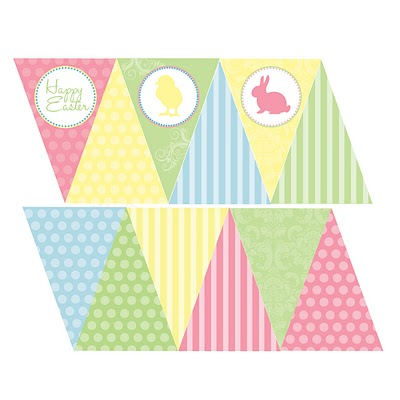 5 Images of Easter Bunting Printables