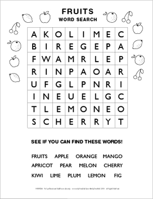 5 Images of Free Printable Easy Word Search Puzzles