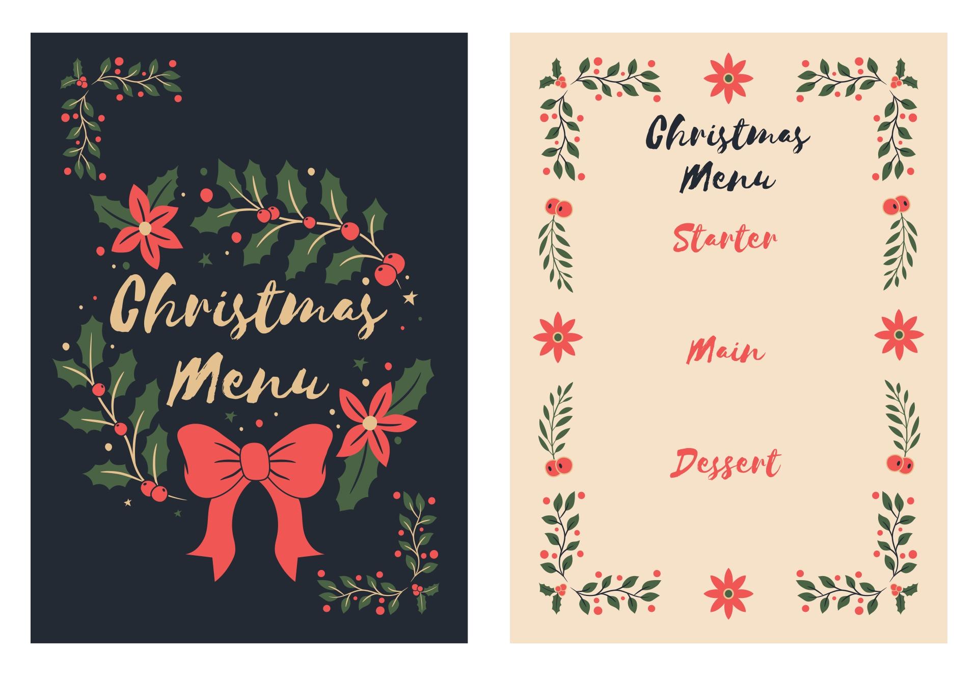 Elegant Christmas Menu Ideas